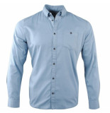 Tom Tailor heren overhemd borstzak yonder blue
