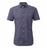 Tom Tailor heren korte mouw overhemd borstzak gestreept -
