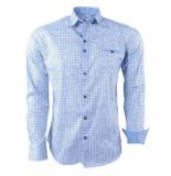 Ferlucci heren overhemd geblokt milano stretch - wit