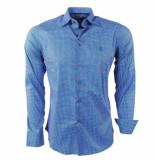 Ferlucci heren overhemd gestippeld calabria stretch -