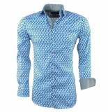 Montazinni heren overhemd met trendy design stretch -