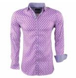 Montazinni heren overhemd met trendy design stretch lila