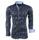 Montazinni heren overhemd stretch vogels -