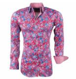 Montazinni heren overhemd stretch bloemen -