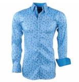 Montazinni heren overhemd peacock stretch -