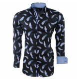 Montazinni heren overhemd veren stretch -