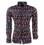 New Republic heren kerst overhemd stretch -