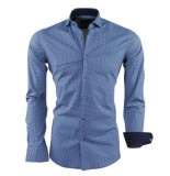 Dom Tower heren overhemd gestippeld stretch -