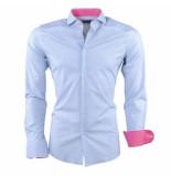 Dom Tower heren overhemd met trendy design gestreept stretch -