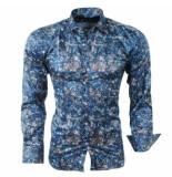 Pradz 2018 Pradz heren overhemd met trendy design - zwart