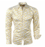 Pradz 2018 Pradz heren overhemd smileys - geel