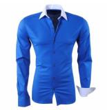 RDX heren overhemd slim fit stretch donker