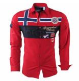 Geographical Norway heren overhemd slim fit zadock - rood