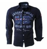 Geographical Norway heren overhemd zolduc slim fit - blauw