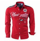 Geographical Norway heren overhemd navigator zariminel slim fit - rood