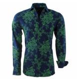 Montazinni heren overhemd bloemen slim fit - groen