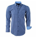 Enrico Polo heren overhemd geblokt borstzak -