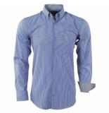 Enrico Polo heren overhemd gestreept borstzak - wit
