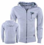 Fire Trap heren vest capuchon sweat borstzak -