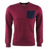 Earthbound heren trui ronde hals borstzak sweat geruit -