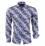 Pradz 2018 heren overhemd full color - roze grijs