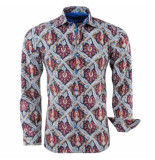 Bravo Jeans heren overhemd paisley design slim fit - rood