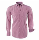 Ambassador ongetailleerd heren overhemd geblokt paisley motief in de kraag -