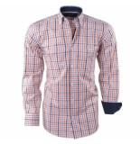 Ambassador ongetailleerd heren overhemd geblokt borstzak -