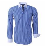 Brentford and Son heren overhemd ongetailleerd gestreept -