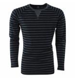 Capricho trendy heren trui gestreept pulli damian fg-2 - zwart