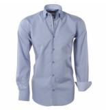Brentford and Son heren overhemd ongetailleerd design in de kraag -