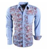 Carisma trendy italiaans overhemd met paisley print 8149 licht