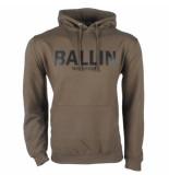 Ballin Est. 2013 heren trui capuchon sweat kaki