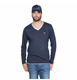 Deeluxe heren shirt v-hals legendson midnight