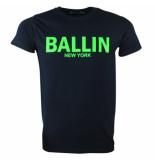Ballin Est. 2013 heren t-shirt ronde hals - fluoriserend groen