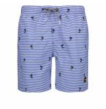 Shiwi heren zwembroek gestreept palm bali blue