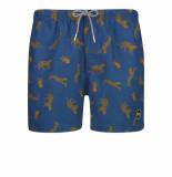 Shiwi heren zwembroek leopard donker