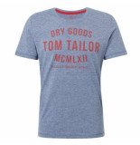 Tom Tailor heren t-shirt ronde hals donker