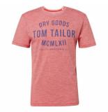 Tom Tailor heren t-shirt ronde hals koraal