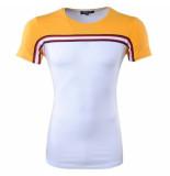 Carisma heren t-shirt ronde hals slim fit - geel