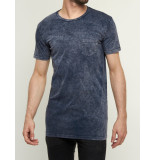 Nena and Pasadena T-shirt aide wash core tall tee navy blauw