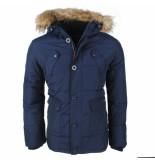 North Valley heren winterjas met faux fur bontkraag capuchon met fleece voering -model luis -