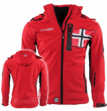 Geographical Norway heren softshell jas capuchon renade - rood