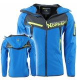 Geographical Norway heren softshell jas capuchon toscou - blauw