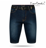 Pierre Cardin heren bermuda met gratis riem dark wash denim
