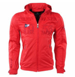 Geographical Norway heren zomerjas capuchon yacht cacao - rood