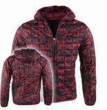Young Wild & Free heren gewatteerde jas camouflage -