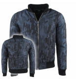 Young Wild & Free heren bomberjack camouflage donker
