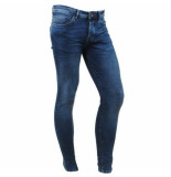 Cars heren jeans super skinny stretch lengte 34 dust dark used blauw