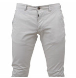 Paname Brothers heren chino slim fit stretch john lengte 34 - grijs